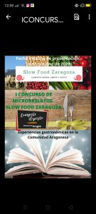 I CONCURSO DE MICRORRELATOS. SLOW FOOD ZARAGOZA